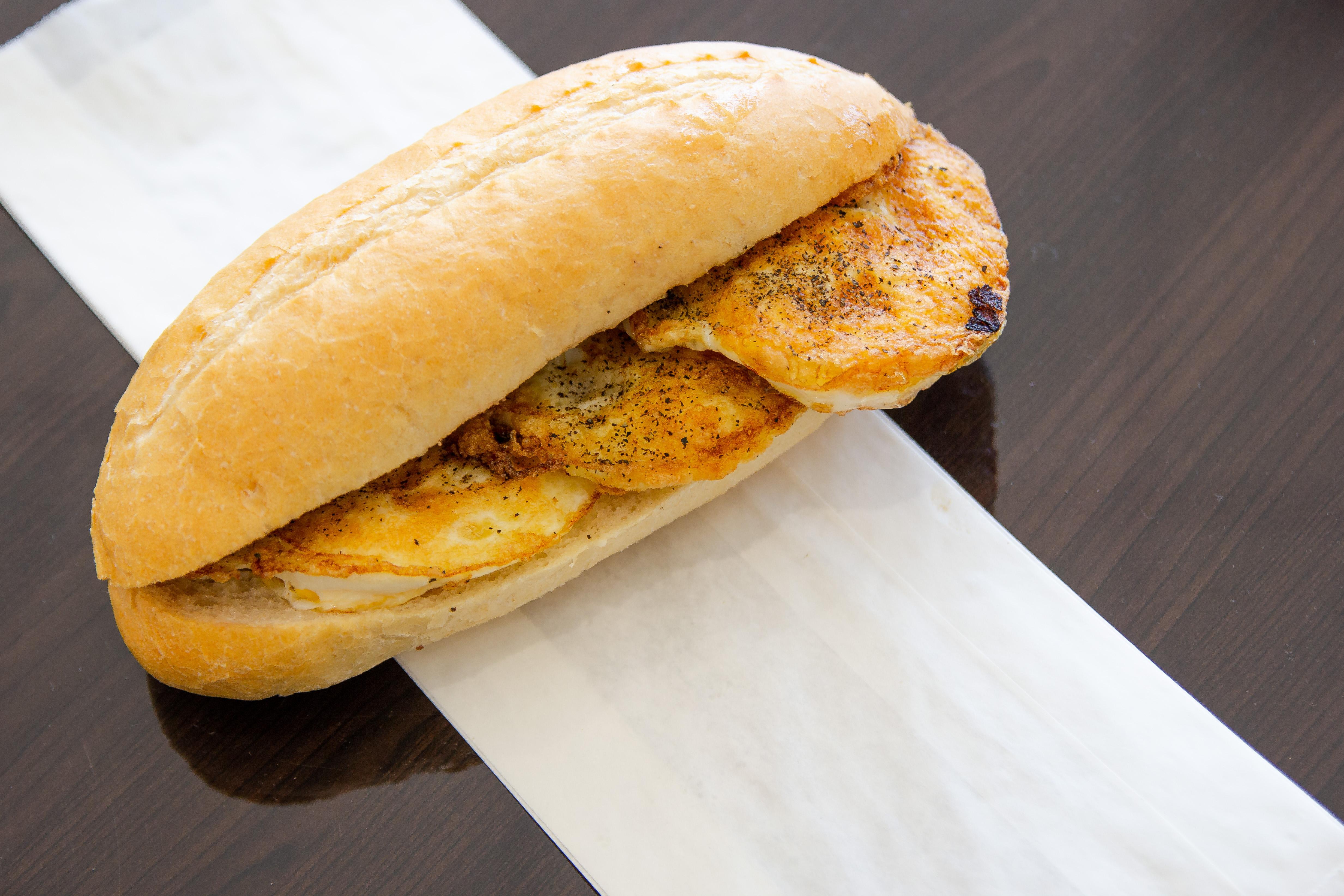 Fried Eggs Sandwich Image
