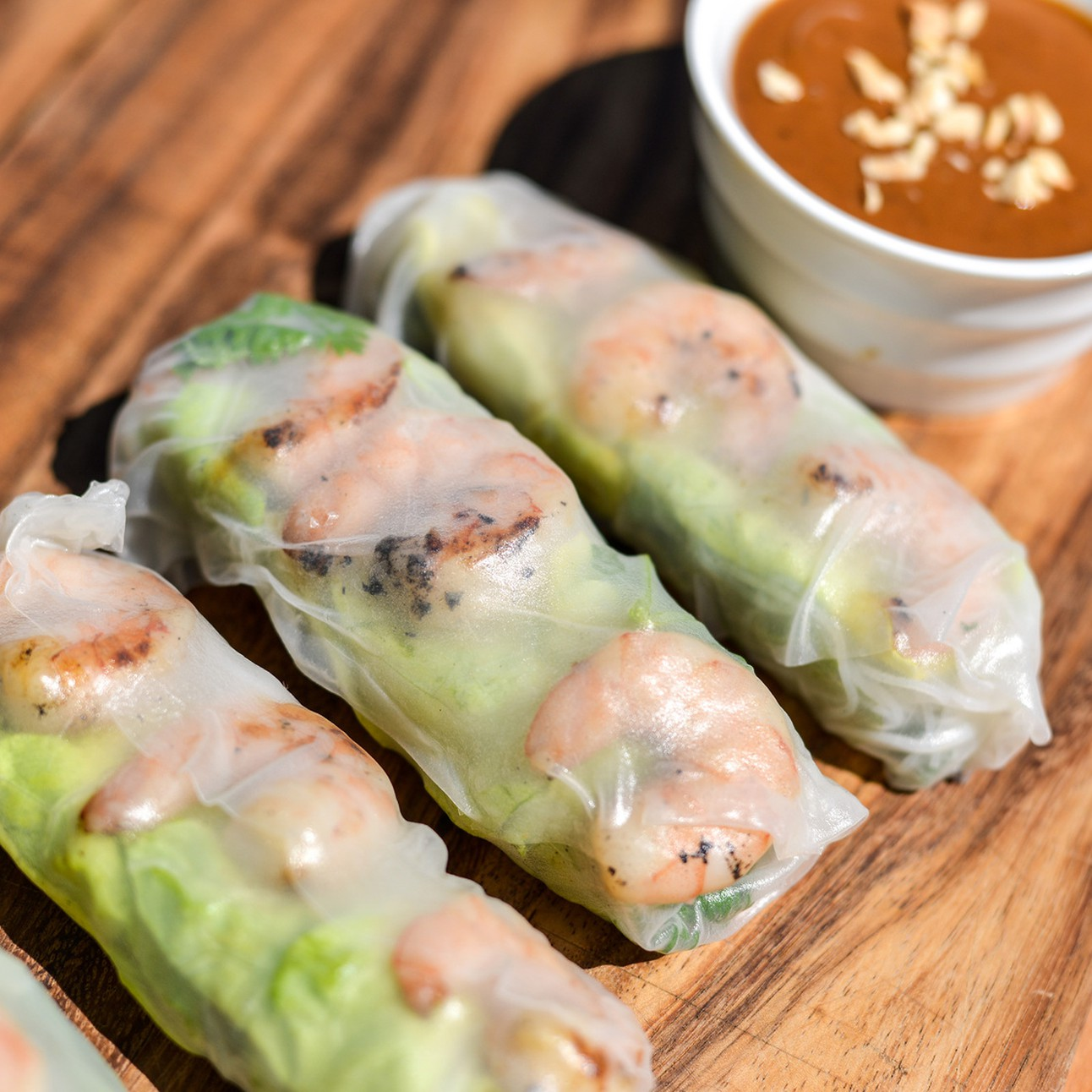 Chargrilled Shrimp Summer Roll