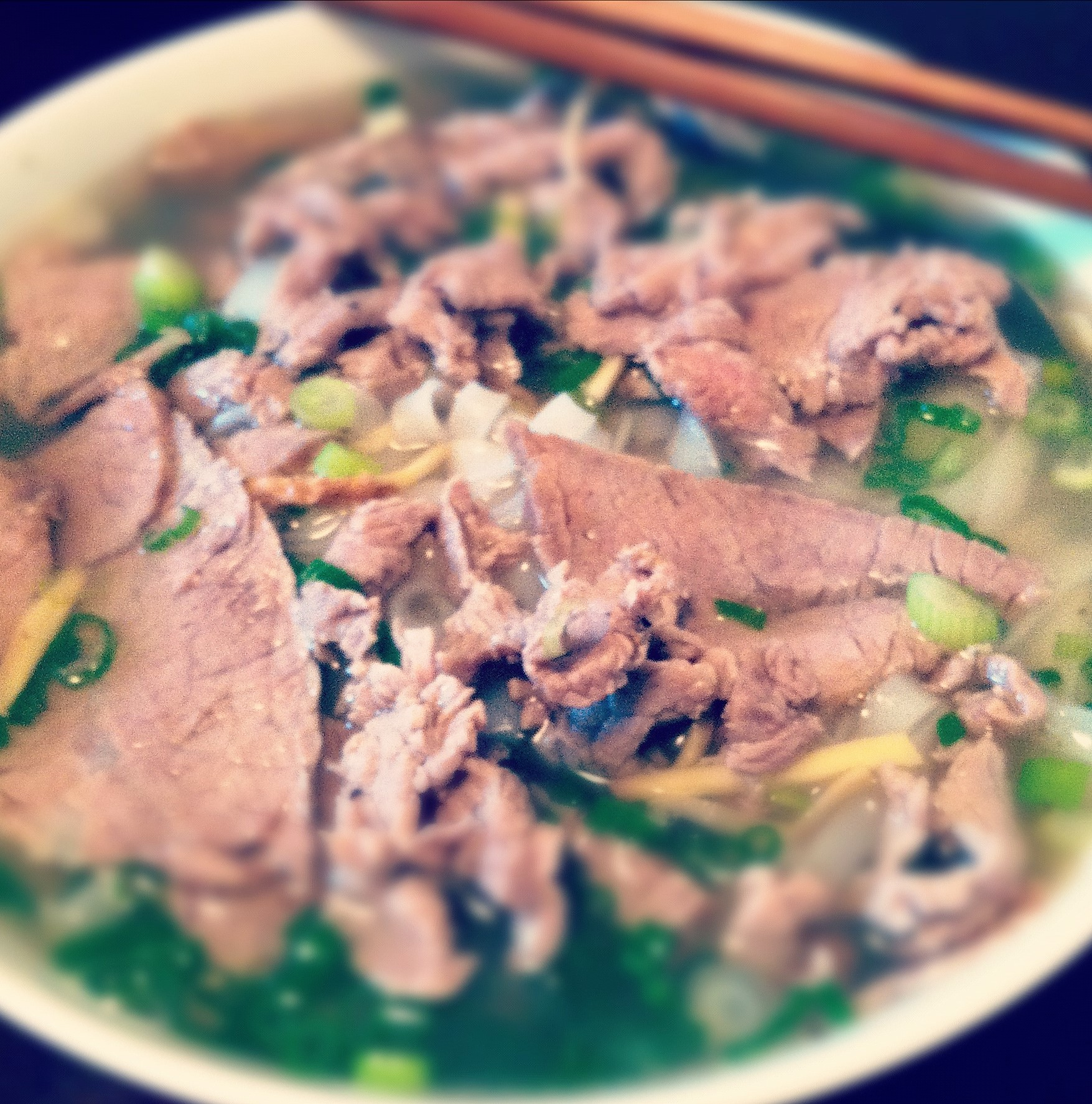 Eye Round Steak Pho (Phở Tái)
