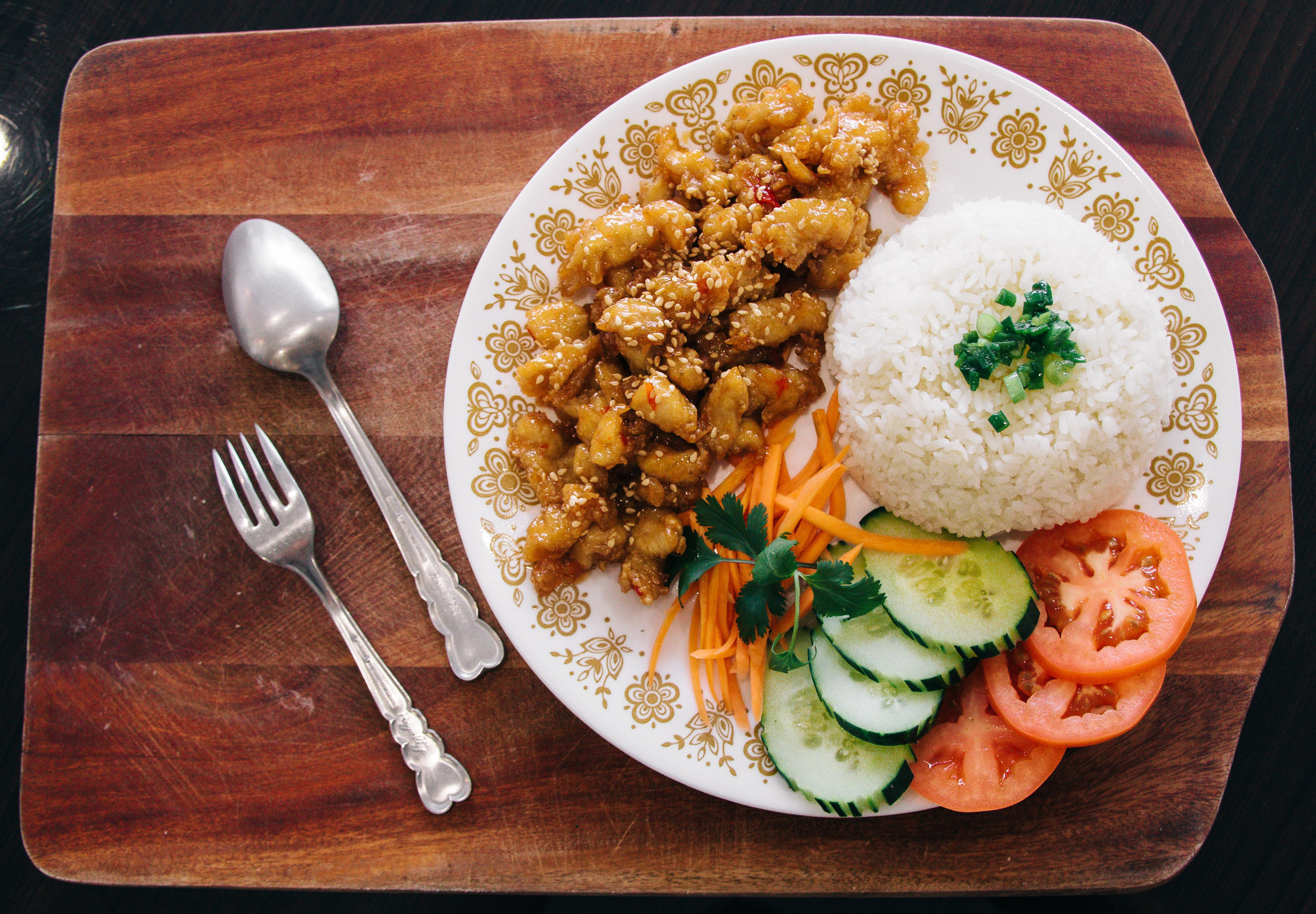 Sesame Chicken Rice Bowl Image