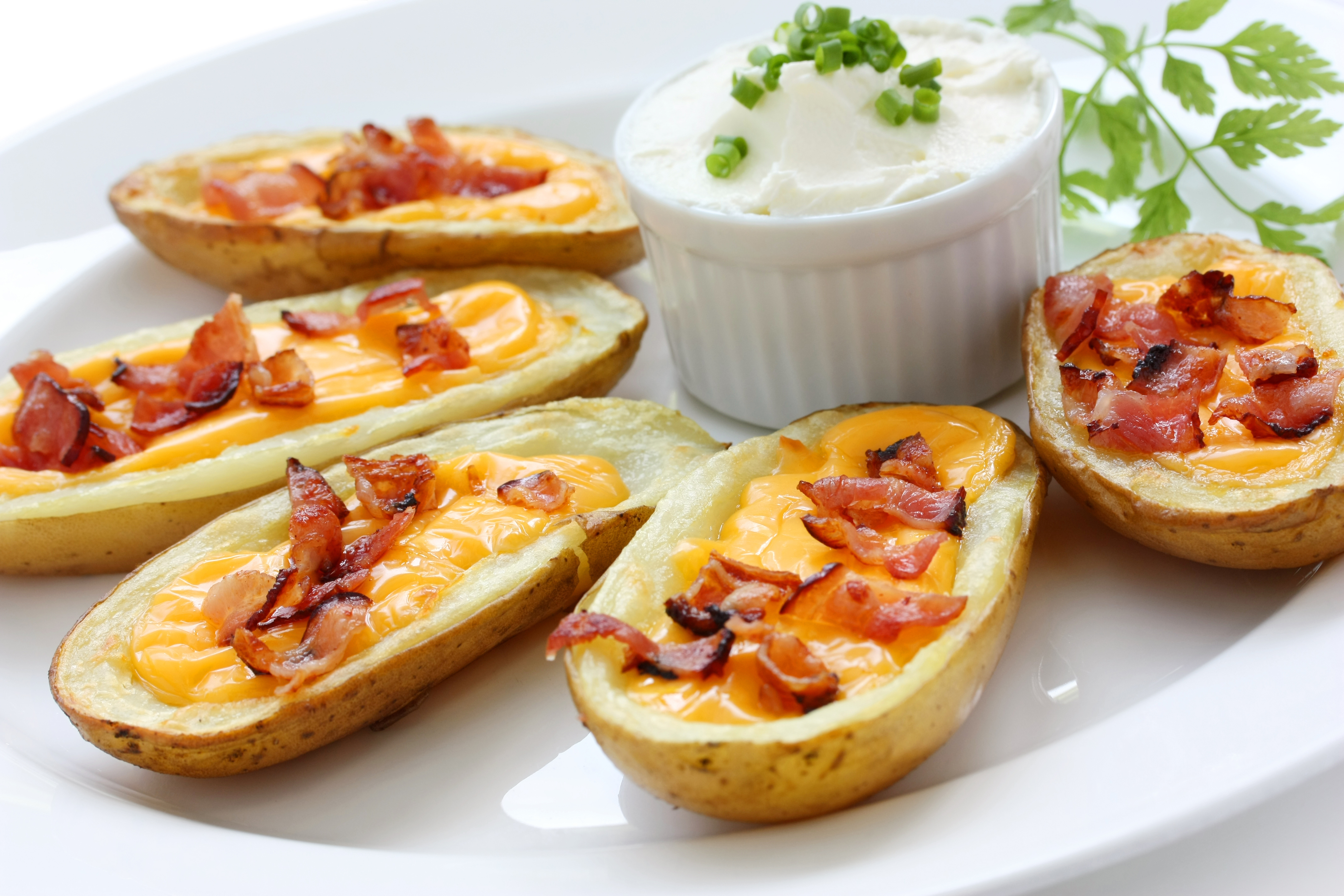 Fully Loaded Potato Skins Image