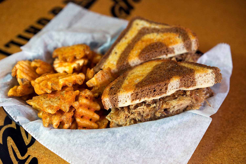 Polish Pulled Pork Reuben Sandwich Image