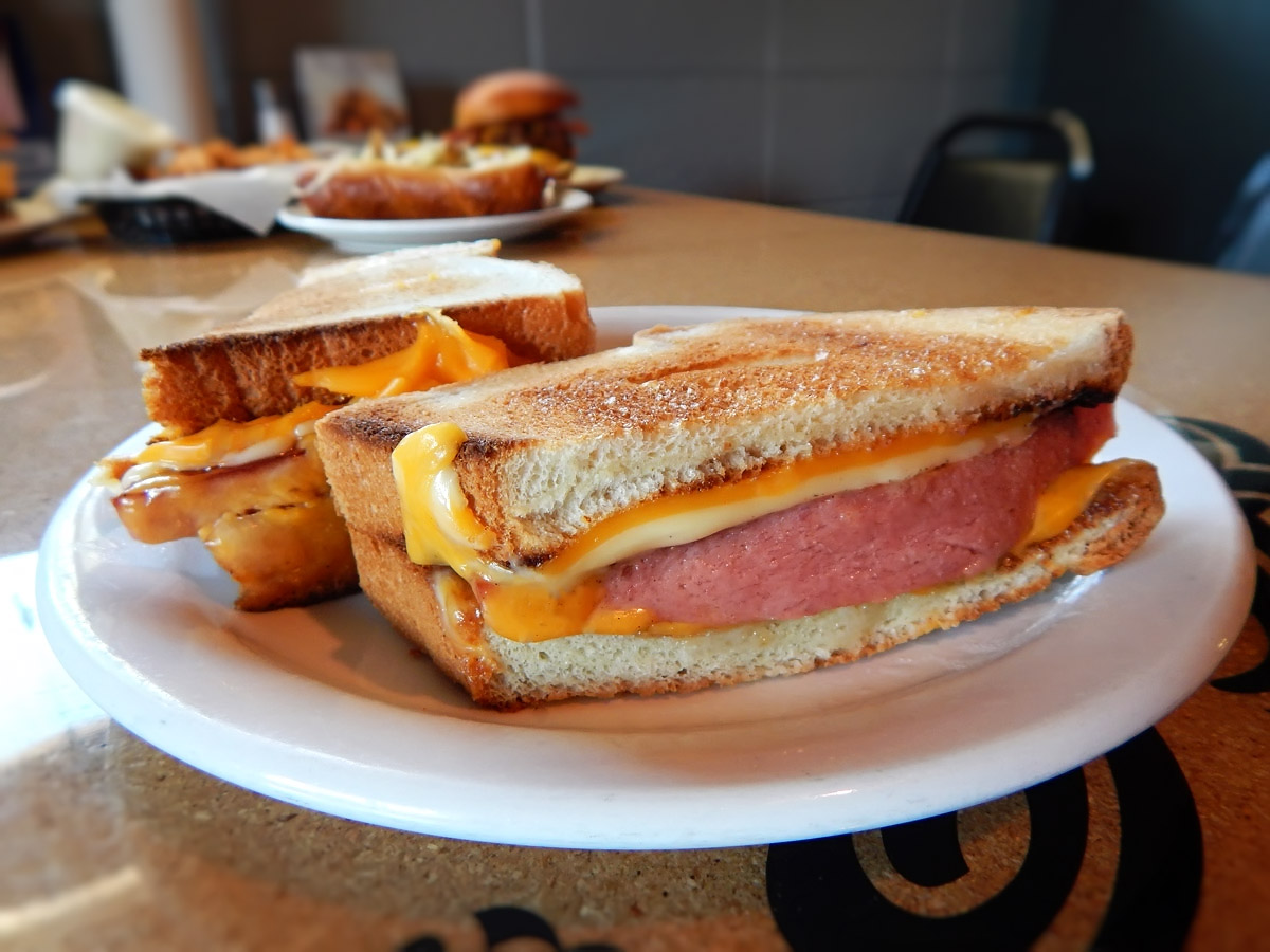 Henry's Special Fried Bologna Sandwich