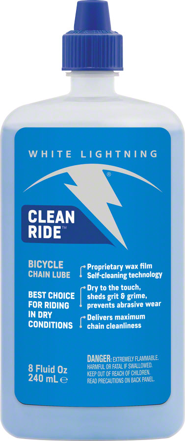 White Lightning Clean Ride Lube, 8oz Drip Image