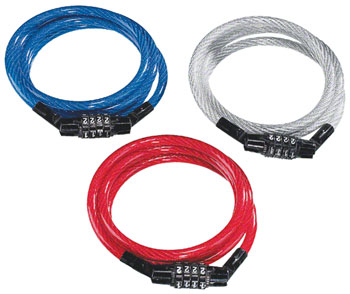KryptoFlex Keeper 712 4-Digit Combo Cable Lock: 4' x 7mm Image