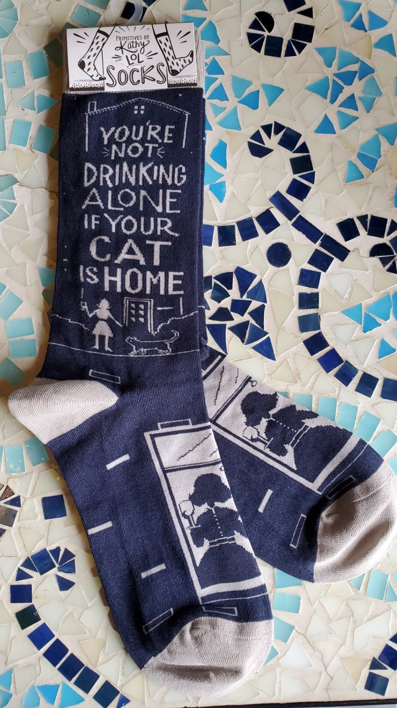 Sock- you're not drinking alone