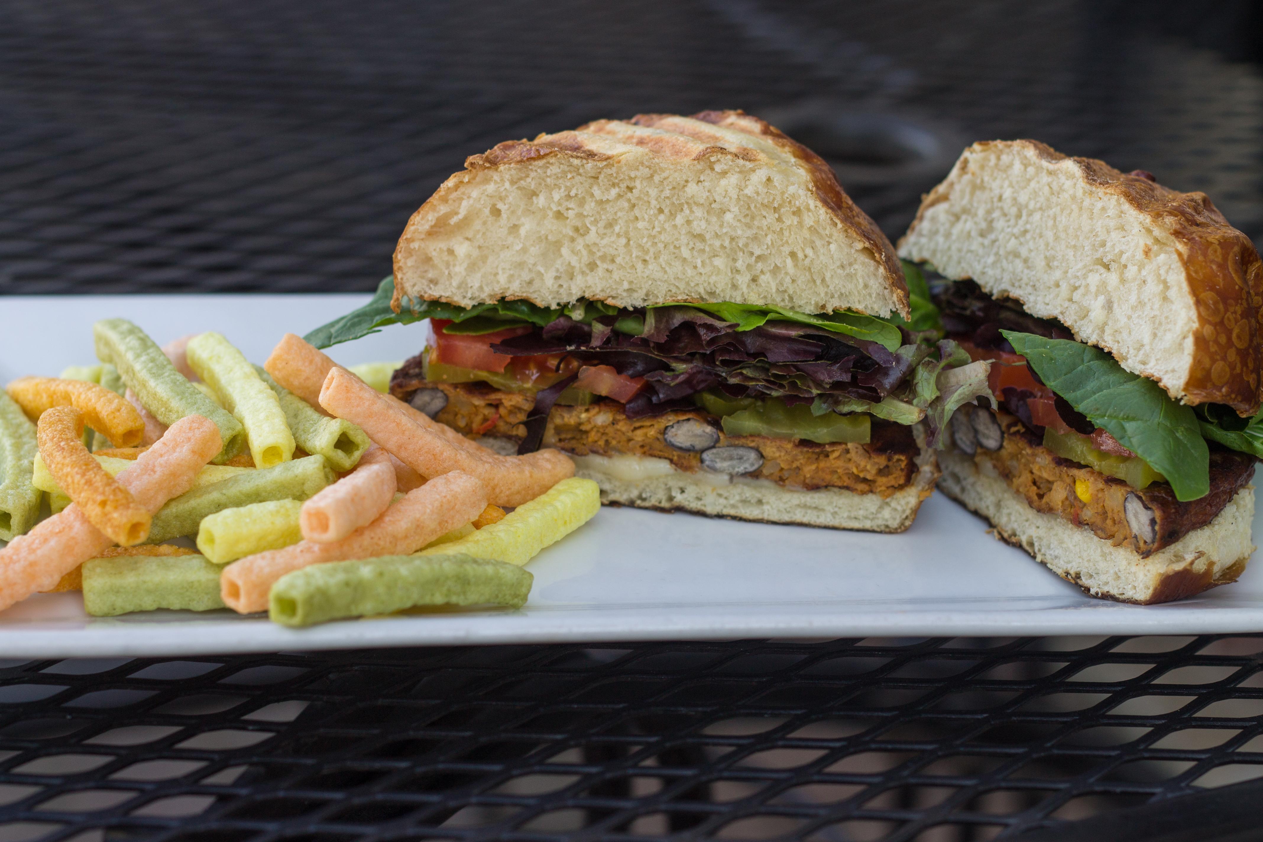 Black Bean Veggie Burger Image