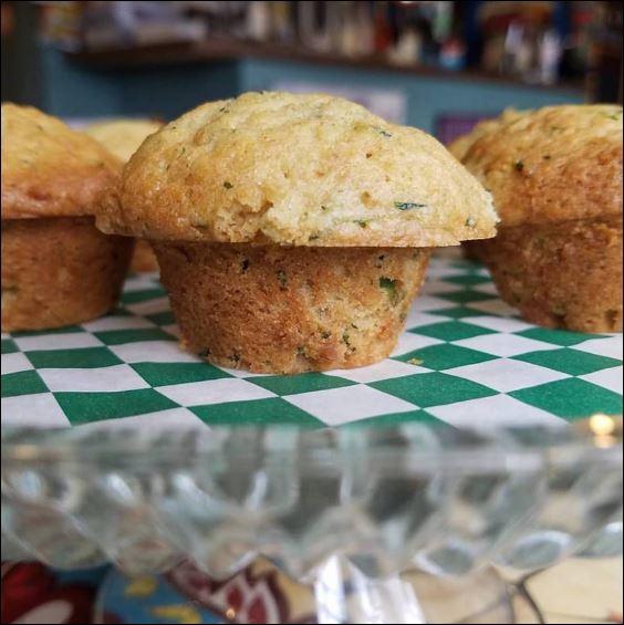 Mini Vegan Zucchini Muffins
