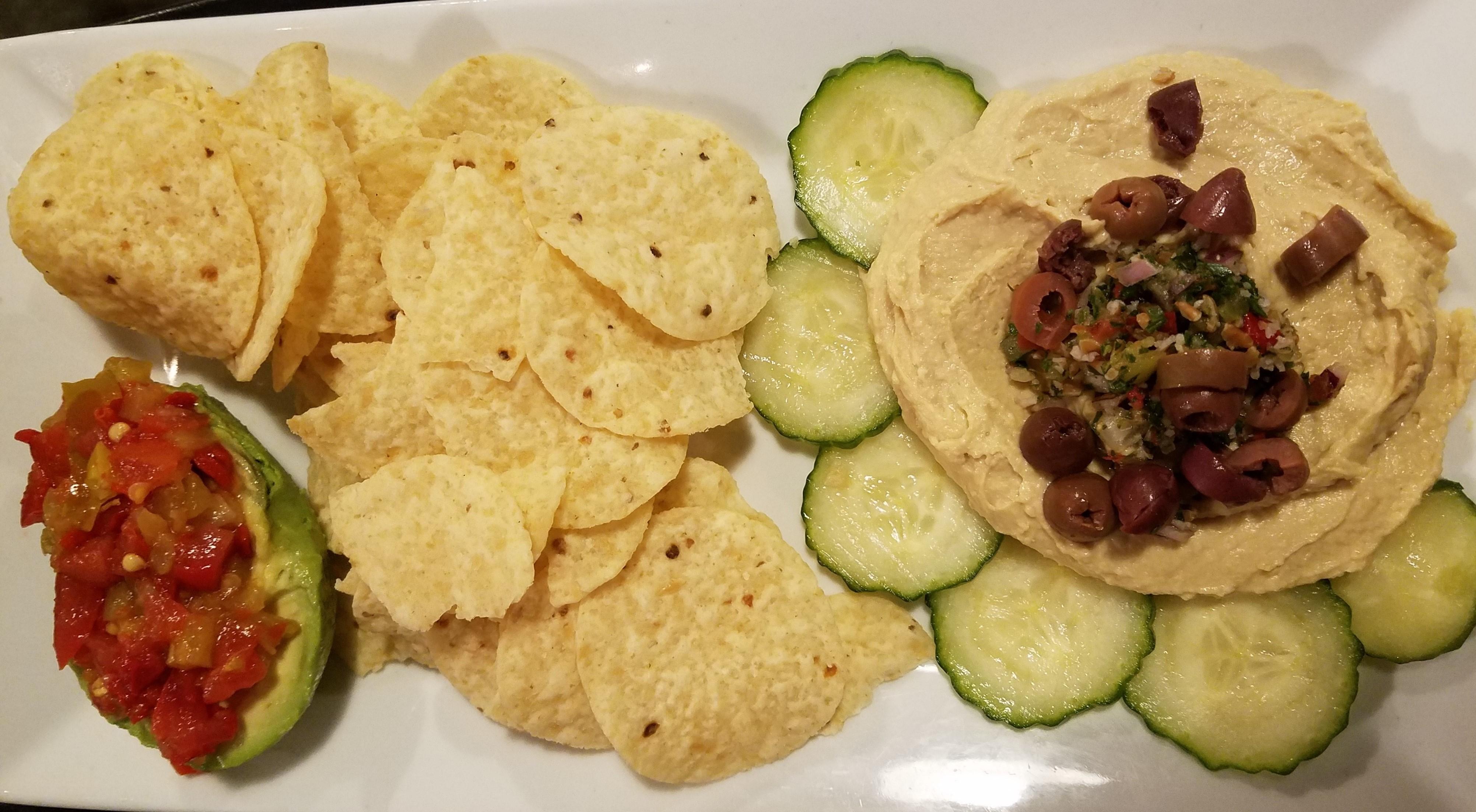 Stuffed Avocado & Hummus Platter Image