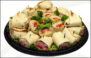 Party Wrap Platter - Large (32 half wraps)