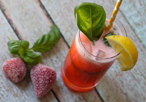 Strawberry Basil Lemonade Image