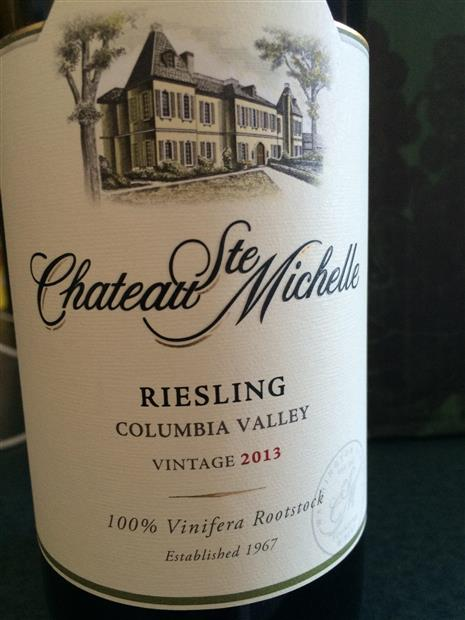 Chateau Ste. Michelle Riesling (SUMMER SPECIAL)