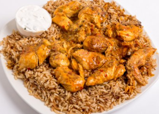 Spicy Chicken On Rice Image
