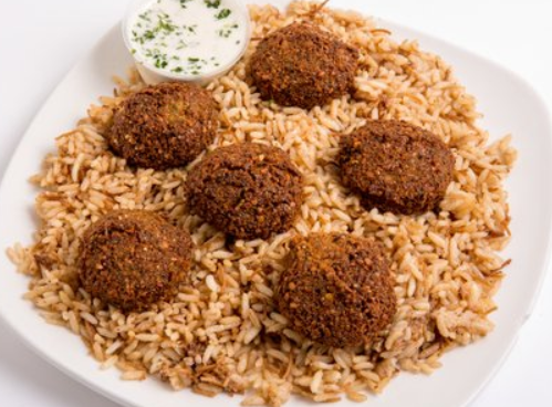 Falafel On Rice Image