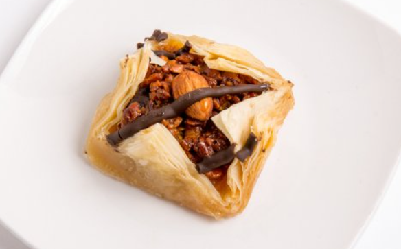 Almond Chocolate Baklava