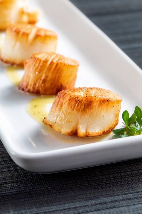 Seared Jumbo Sea Scallops Image