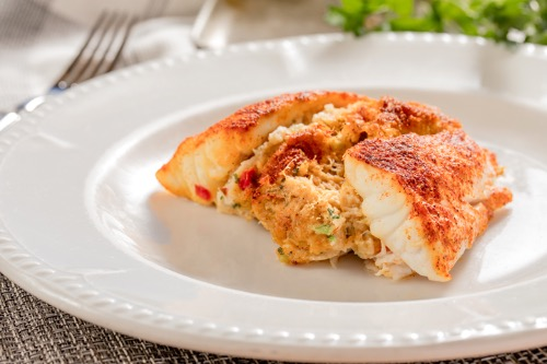 Oven Broiled Stuffed Filet of Grouper Image