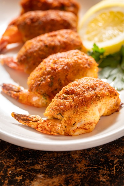 Oven Broiled Stuffed Jumbo Gulf Shrimp Image