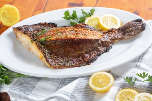 Oven Broiled Whole Stuffed Gulf Flounder Image