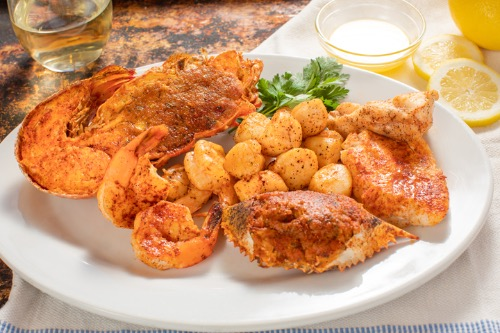 World's Finest Seafood Platter with One-Half Stuffed Broiled Florida Lobster Image