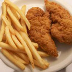 Child Fried Chicken Fingers Image