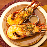 Whole Oven Broiled Stuffed Florida Lobster Image
