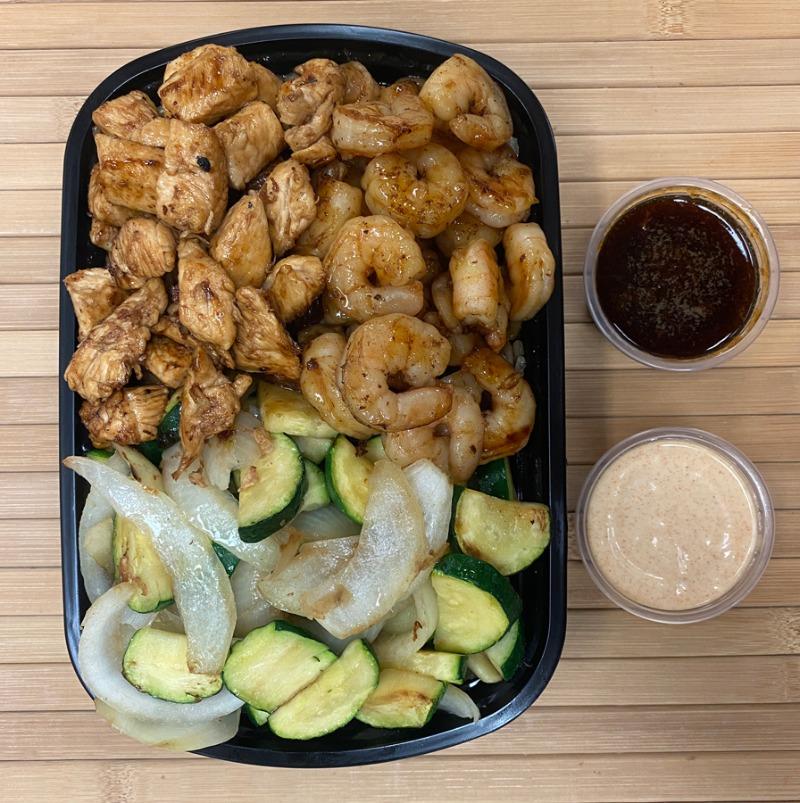 Hibachi Chicken and Shrimp Entree Image