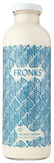 Fronk's Milk Glass Bottle