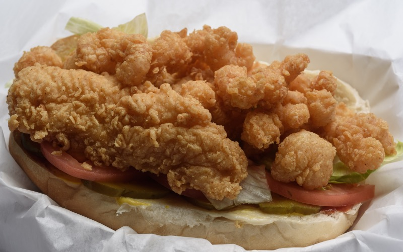 55. Shrimp & Fish Po-Boy Image