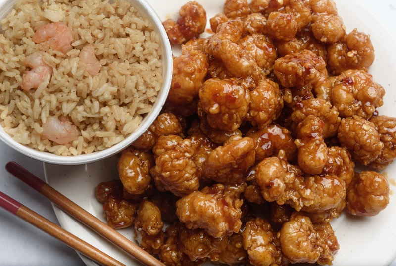 95. Large Order General Tso's Shrimp