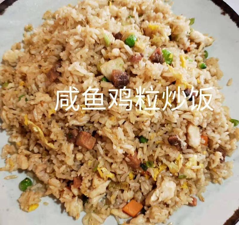 咸鱼鸡粒炒饭 Salted Fish w. Chicken Fried Rice