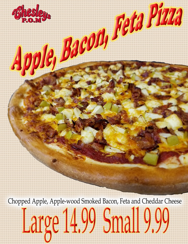 Apple, Bacon, Feta Pizza Image