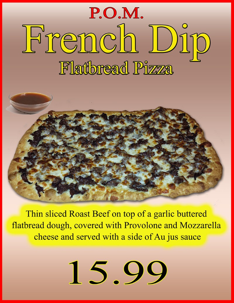 French Dip Flat Bread Pizza Image