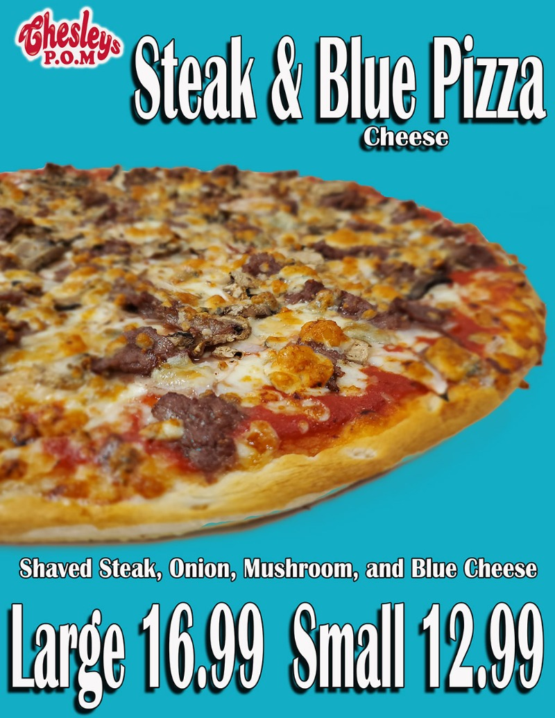 Steak and Blue Pizza Image