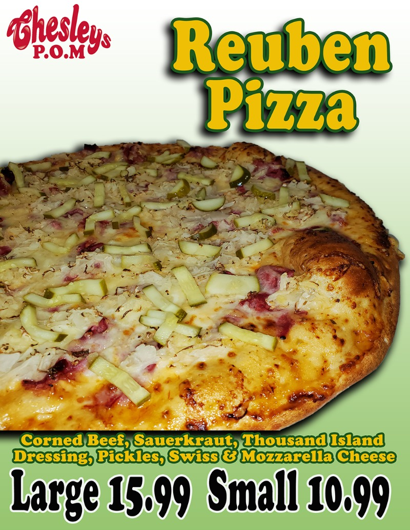 Reuben Pizza Image