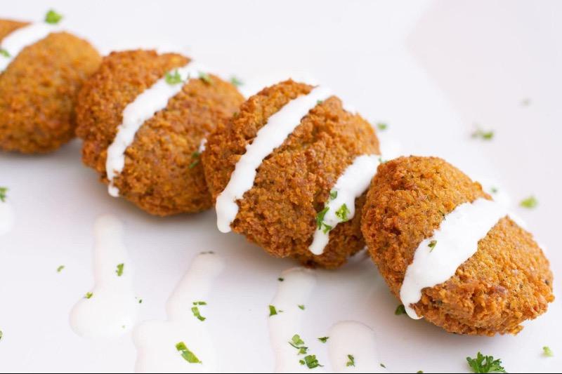 Falafel with Tahini Sauce Image