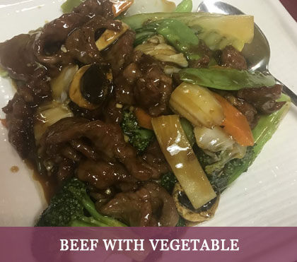 Beef with Vegetable