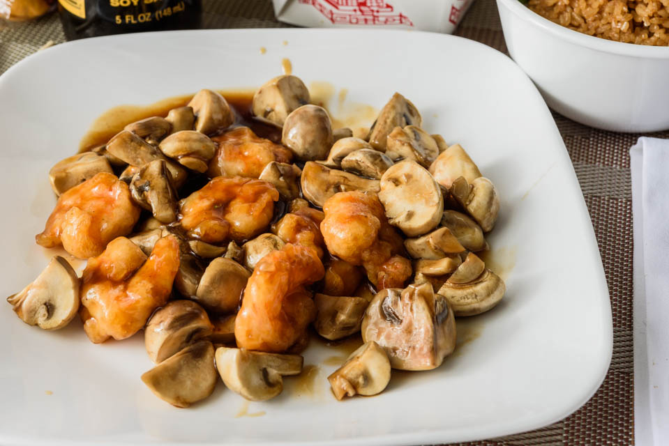 Shrimp with Mushrooms Image