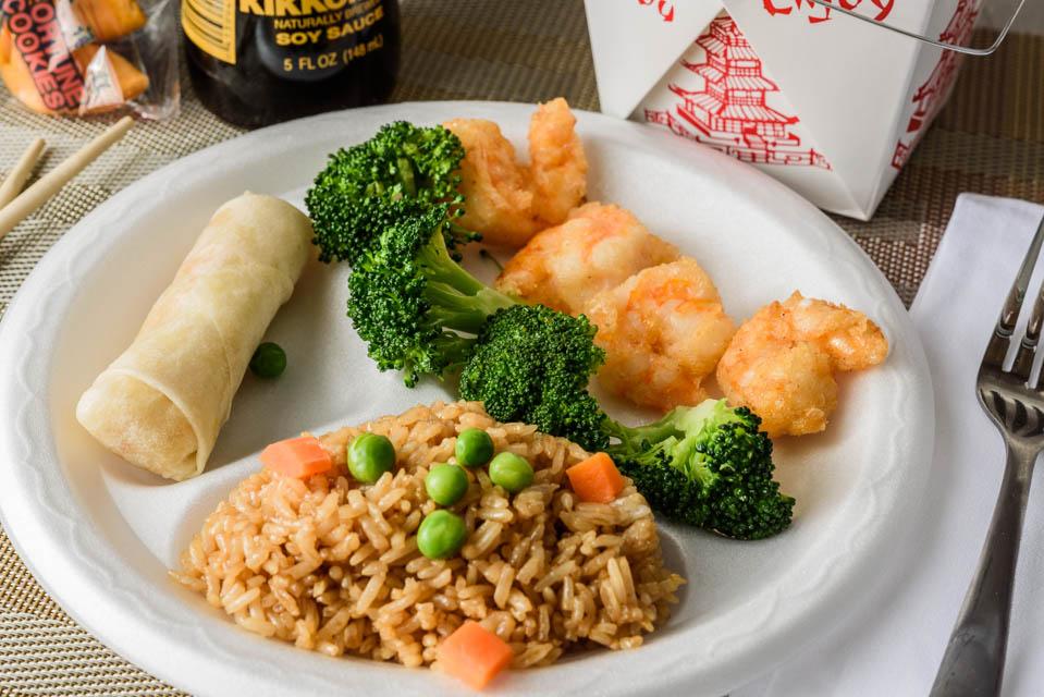 Jumbo Shrimp (4) w. Broccoli