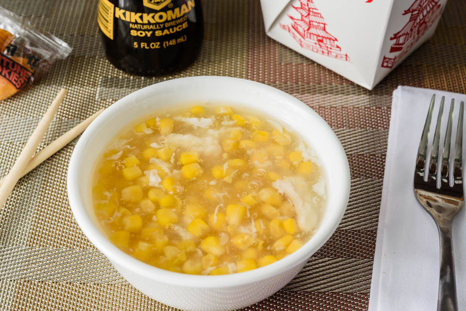 O6. Sweet Corn Chicken Soup (For 2)
