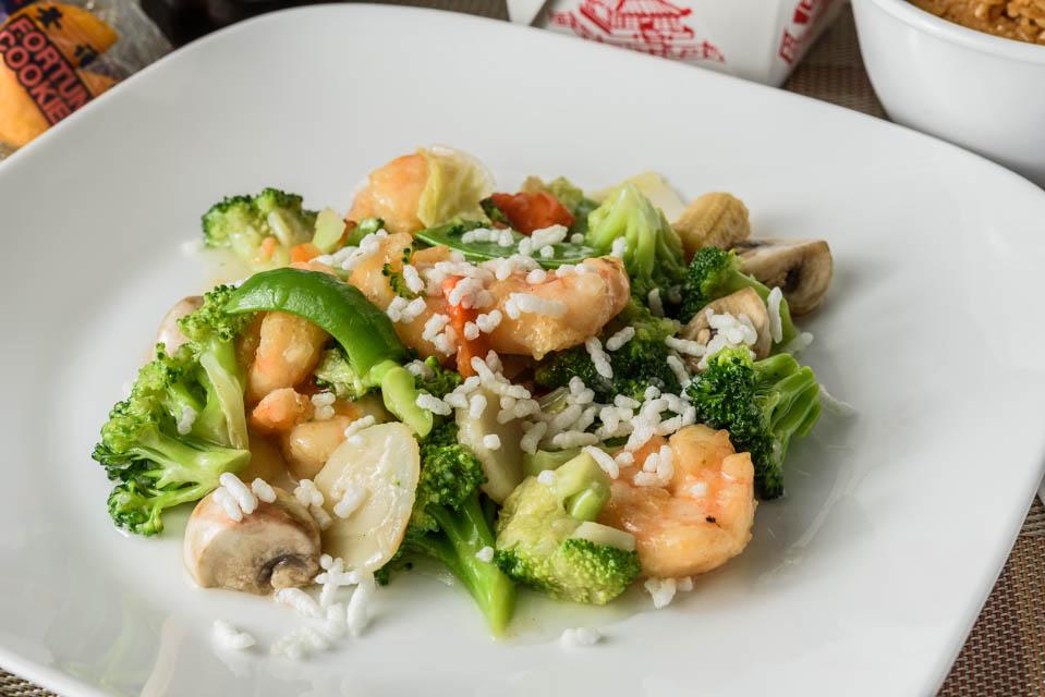 Shrimp w. Sizzling Rice Image