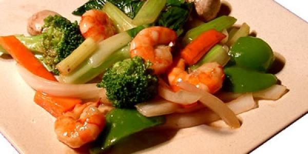 Sauted Mixed Vegetables And Shrimp With Tomato Sauce Stock ...  |Shrimp With Mixed Vegetables