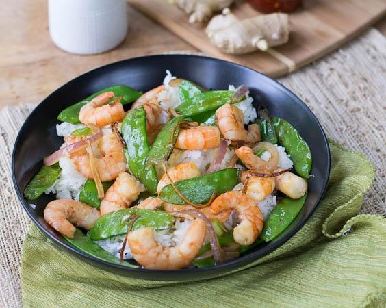 82. Shrimp w. Snow Peas Image