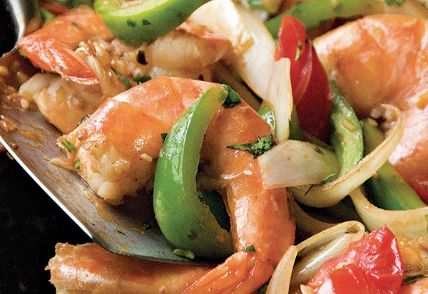 83. Shrimp w. Pepper & Onion Image
