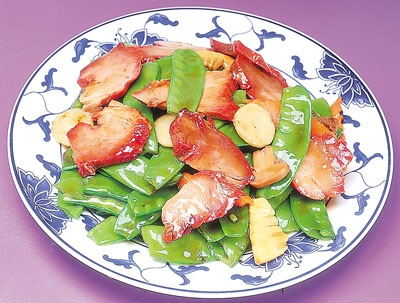 61. Roast Pork w. Snow Peas