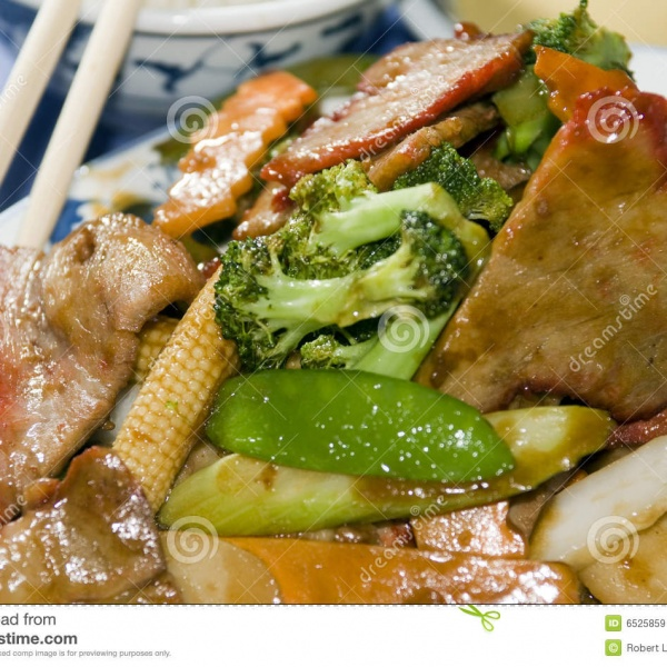 58. Roast Pork w. Chinese Vegetable