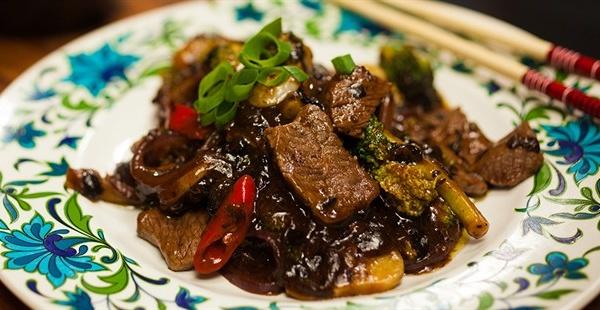 72. Beef w. Black Bean Sauce