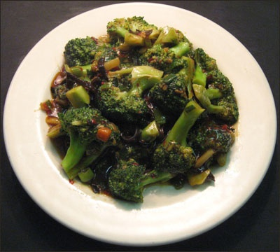 104. Broccoli w. Garlic Sauce