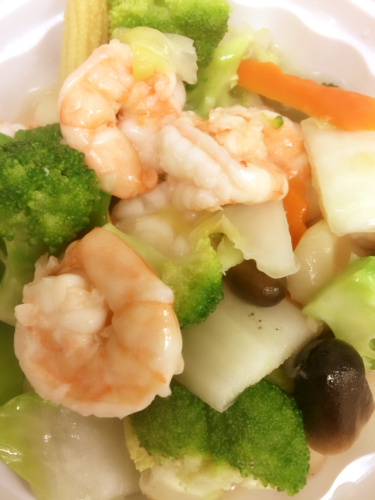 Shrimp with Mixed Vegetables Image
