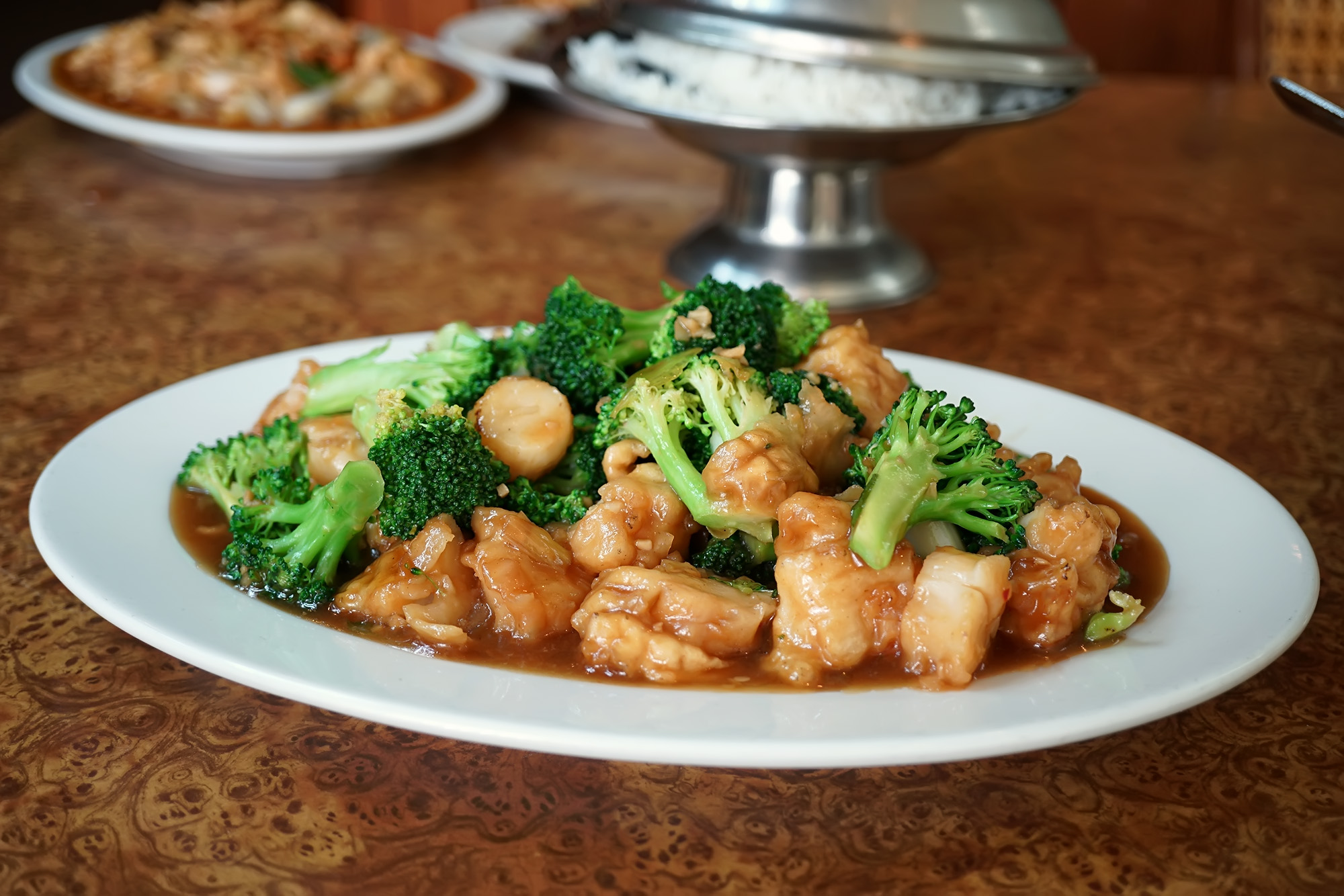 Scallops with Broccoli